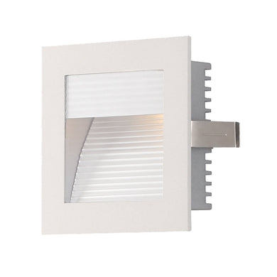 1 Light Xenon Steplight For New Construction With White Reflector And White Trim