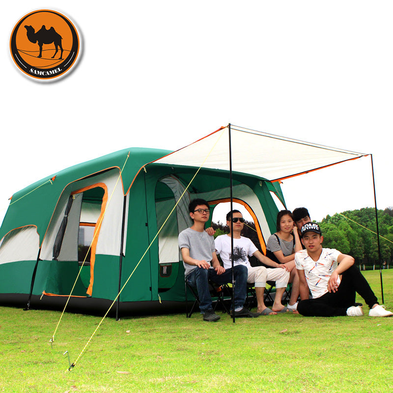 The camel outdoor 8+ person camping tent