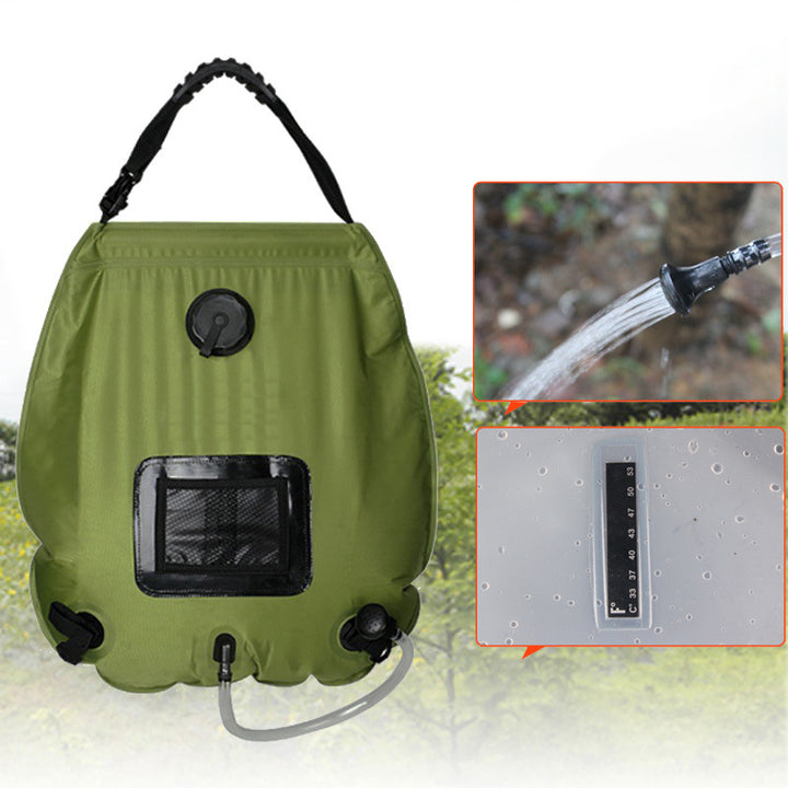 Solar Shower 20L Water Bag with thermometer