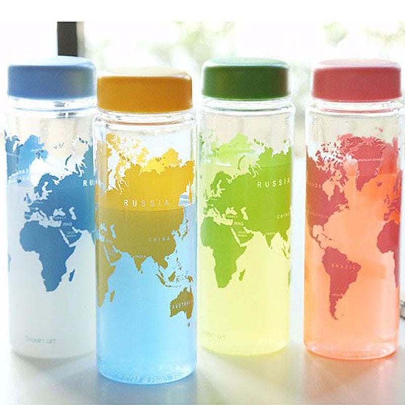 Portable plastic world series  water bottle