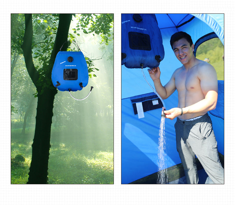 KingCamp Waterproof Dry Bag 20L Camping Solar Shower Bag - Solar Energy Heated