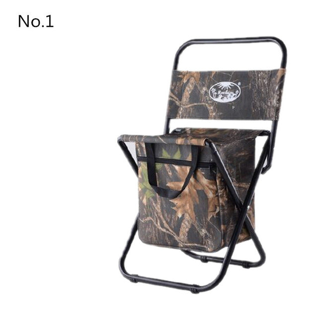 Mavllos Ultralight Foldable Multifunctional Fishing Chair Camouflage