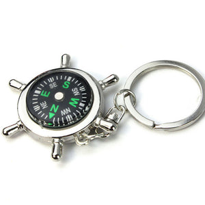 New Creatively Design Portable Alloy Silver Nautical Compass