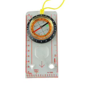 Outdoor Camping Directional Hiking Compass Baseplate Ruler Map Scale