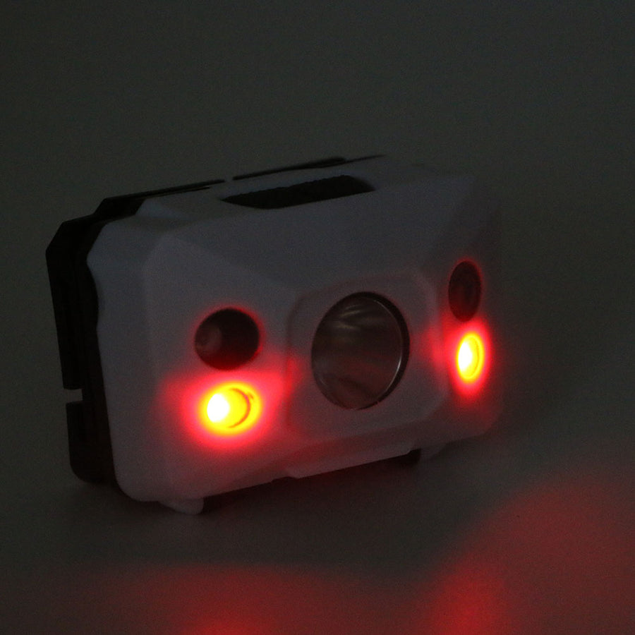 White and Red Headlamp