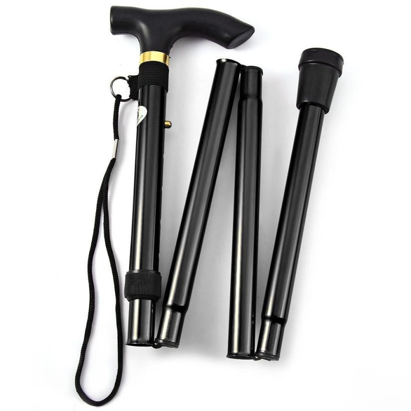 Folding Trekking Pole With Non-slip Rubber Base