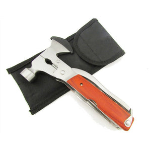 Outdoor Sport Multifunction Hammer Axe Knife Opener Screwdriver Plier Tool Kit w/ multi tool Emergency Survival Hatchet