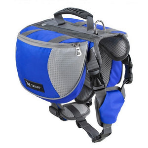 Adjustable Dog Saddle Bag Backpack Harness