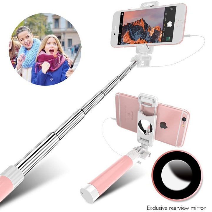 Selfie Stick with Mirror Tripod For iPhone 6