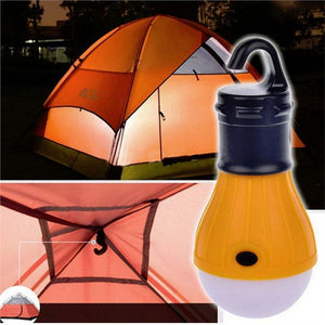 Portable 3 LED Lantern Tent Light Bulb for Camping w/ Emergency Battery Powered Light