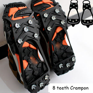 YINGTOUMAN 8 Teeth Silicone Sports Anti-Slip Ice Gripper Crampon
