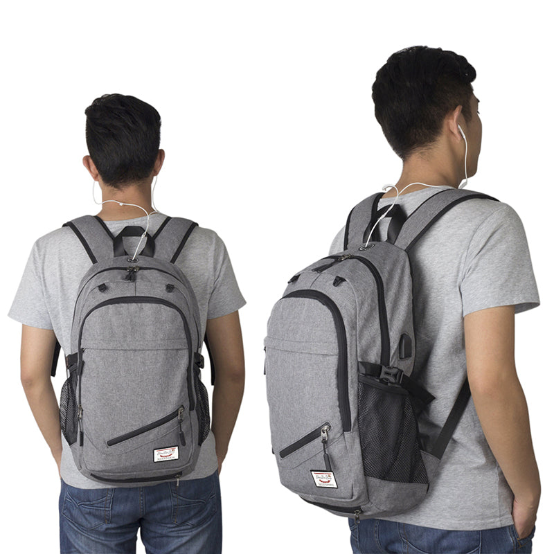 LEFUR Men Canvas Travel Backpack