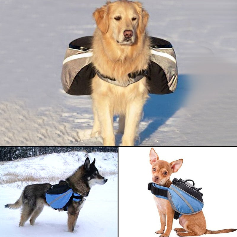 Comfortable Outdoor dog Saddle backpack - XS S M L XL