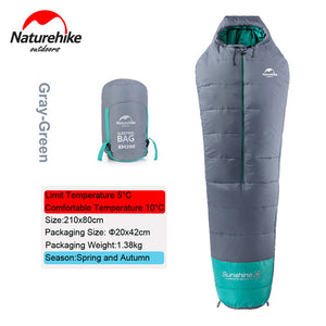 Naturehike 0 Degrees Lightweight Mummy Sleeping Bag with Compression Sack