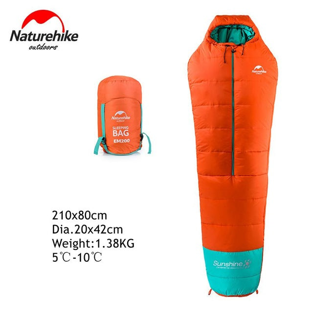 Naturehike 0-10 degree mummy cotton waterproof sleeping bag