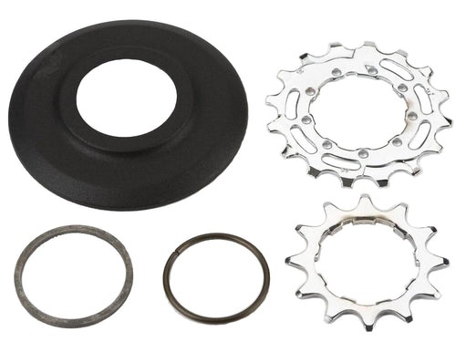 Sprocket set incl chain guide disc 3/32' 9-spline - 12/16T (2-spd)