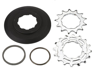 Sprocket set incl chain guide disc 3/32' 9-spline - 13/16T (BWR 6-spd)
