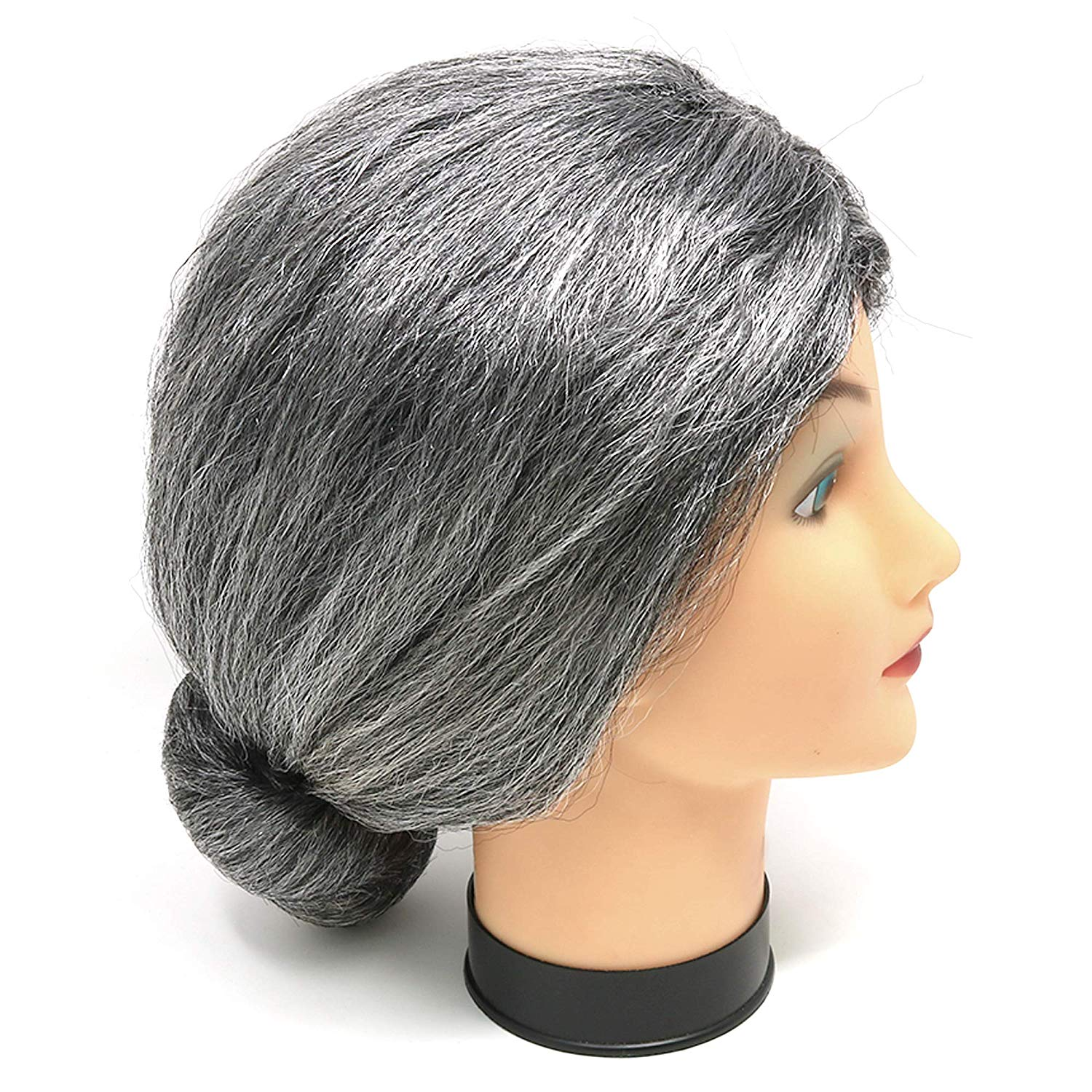 Granny Wig Old Lady Grey Silver Grandma Mrs Santa Wigs Cosplay Costume Party  ... 6891055a5
