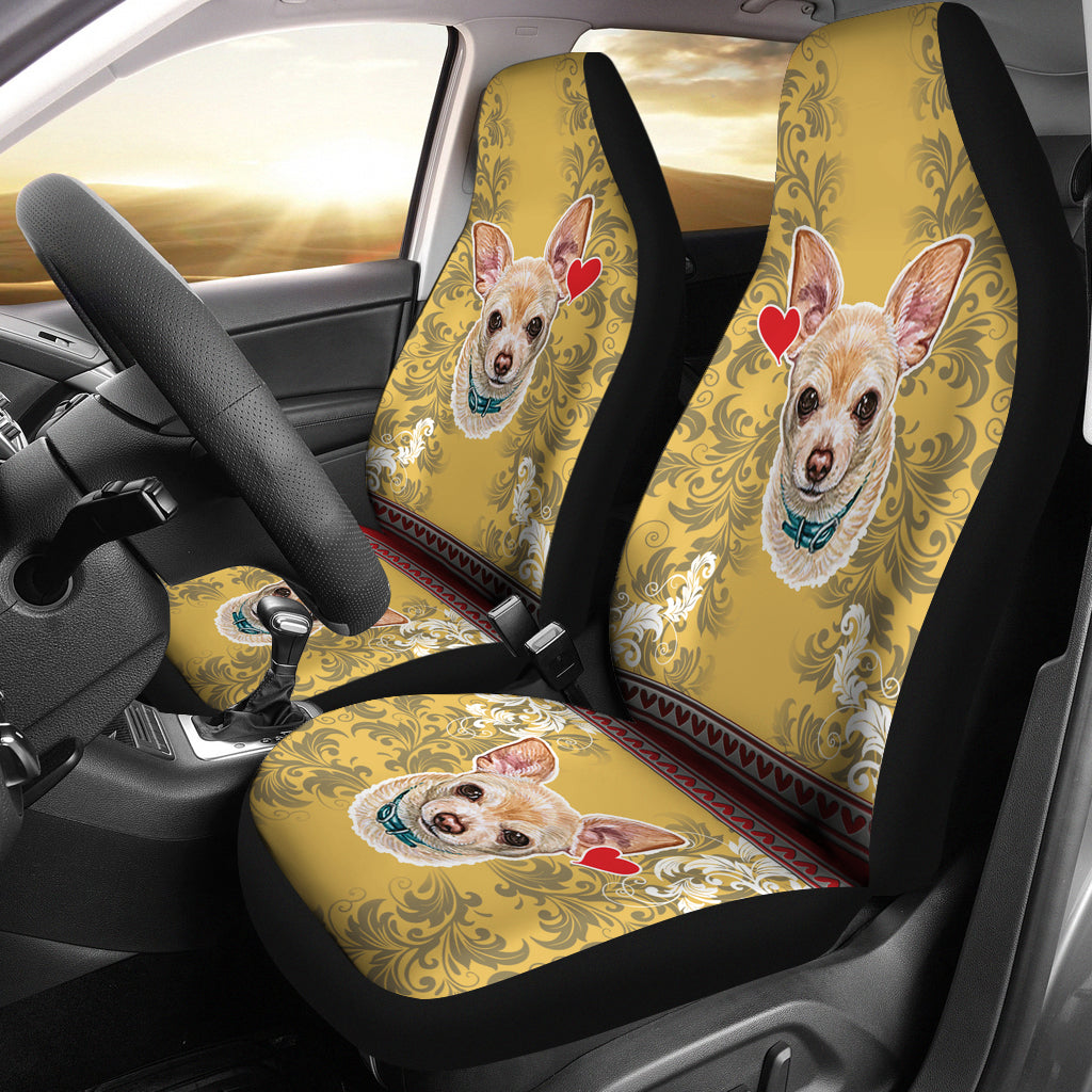 Chihuahua at heart Car Seat Covers