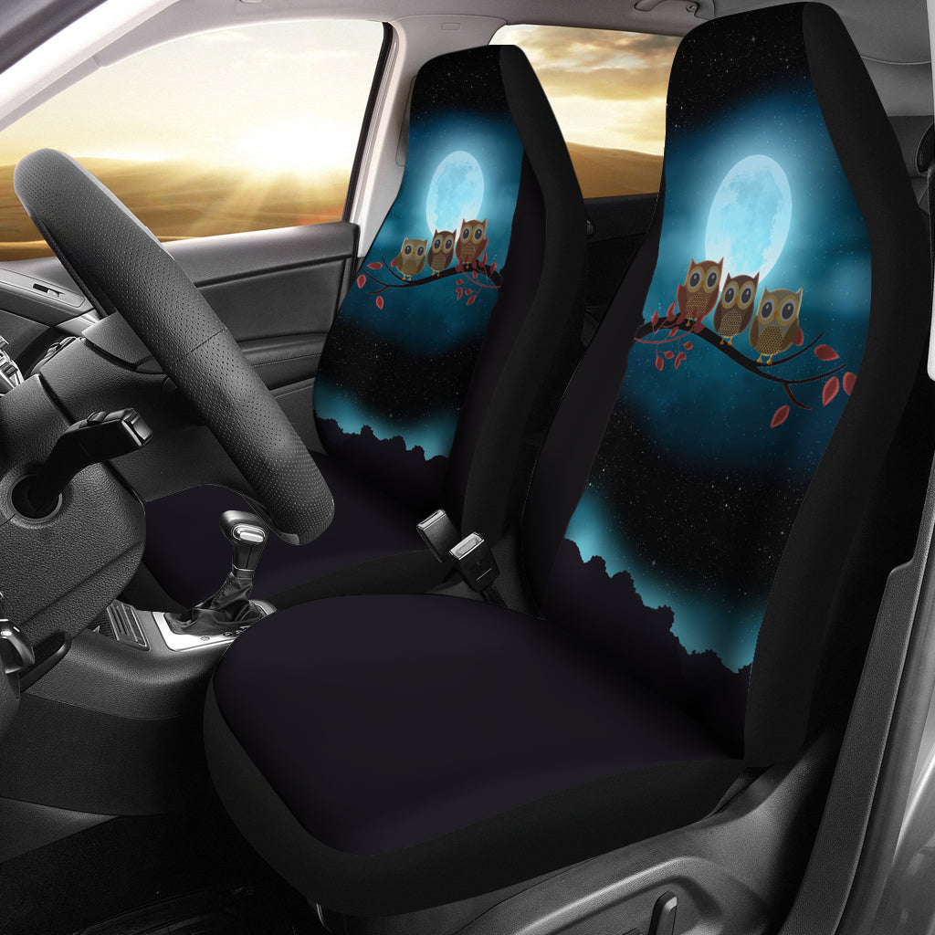 Owl At Night Car Seat Covers – cannonstreetshop