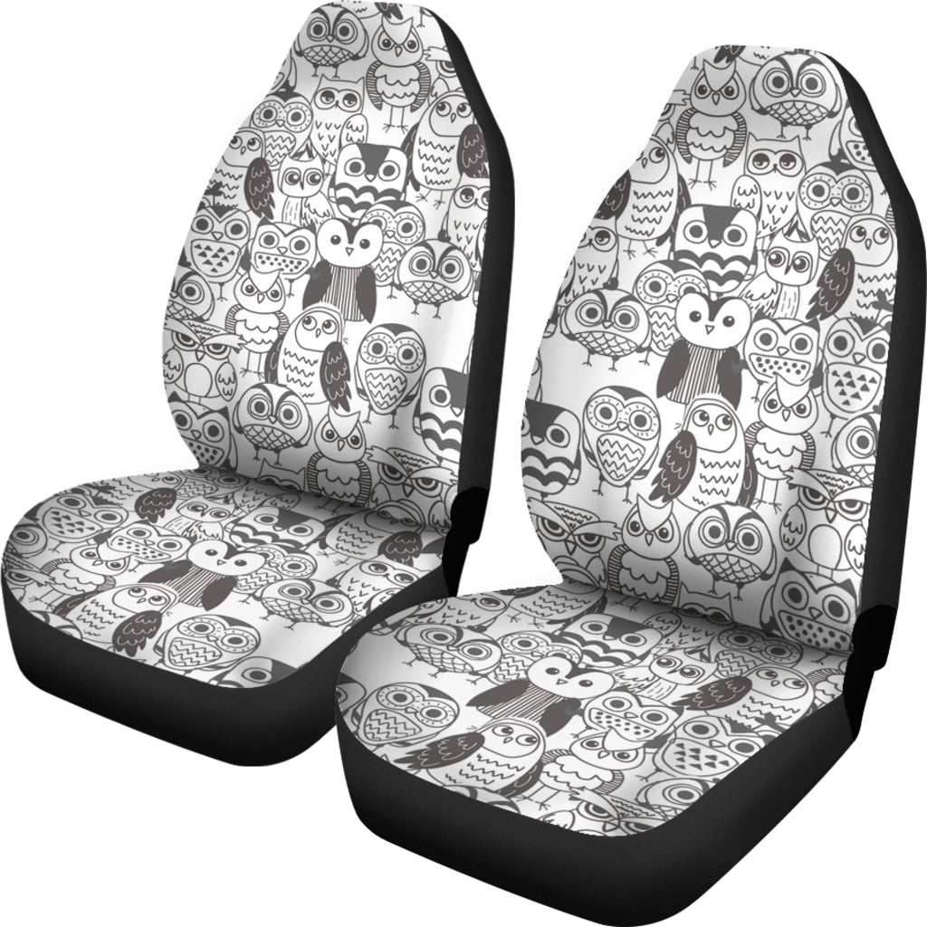 Owls Face Car Seat Cover