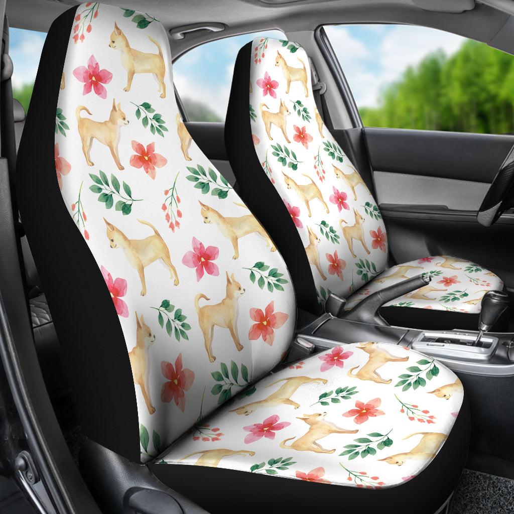 Chihuahua Dog Watercolor Painting Car Seat Cover