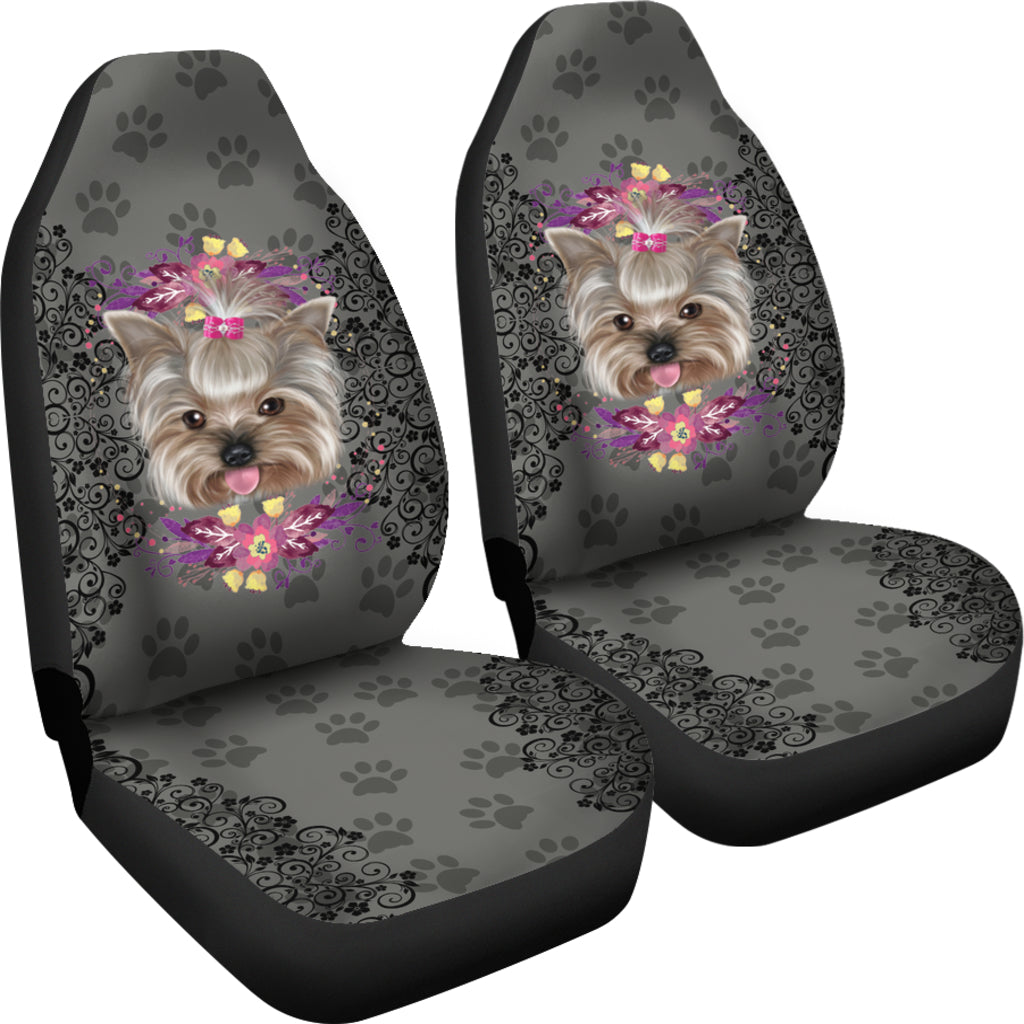 Paw Yorkie Car Seat Covers