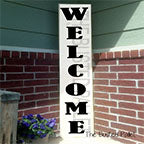 5 Foot Welcome  Wooden Porch Sign