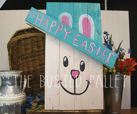 Easter Bunny Wood Porch Decor