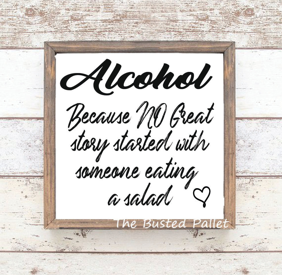 Alcohol - Salad Sign