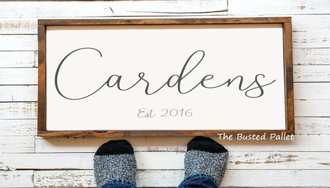 Last Name Wedding Sign