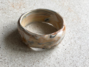 Marbled orange bangle
