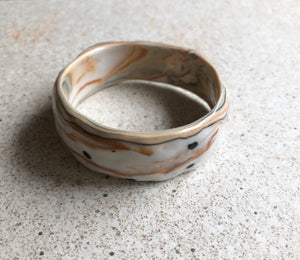Speckled marbled bangle