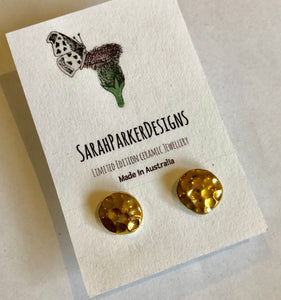 Studs - beaten gold design