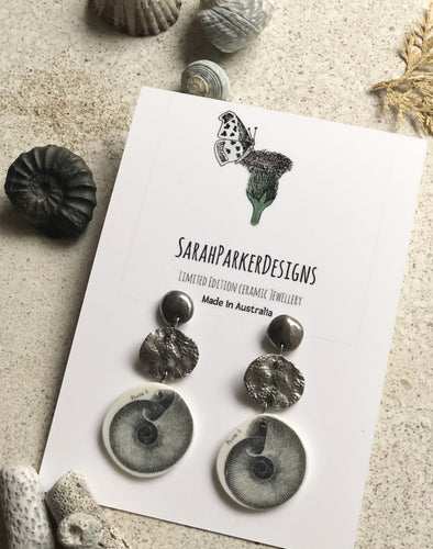 Mollusc drop earrings
