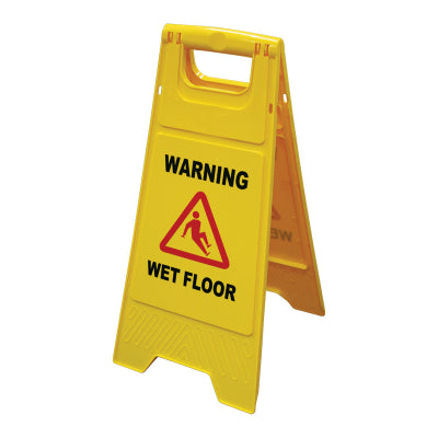 Gala A-Frame Sign - Wet Floor message - Yellow