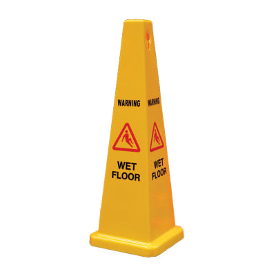 Gala Safety Cone Wet Floor message Yellow - 900mm high