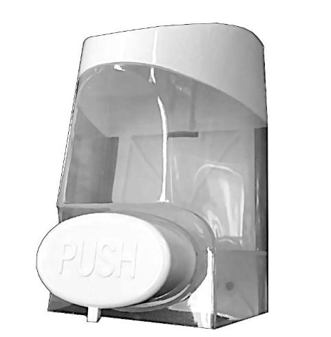 Wall Mount Refillable 800ml, Manually Operated Soap and Sanitising Hand Gel Dispenser