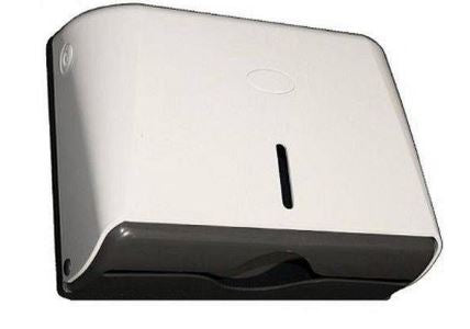 Horizontal White Slim Paper Towel Dispenser
