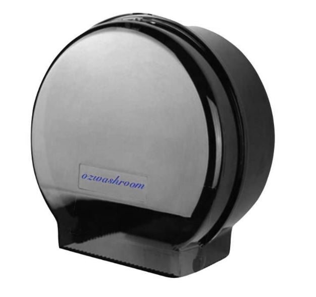 Single Jumbo Roll Dispenser Black Plastic