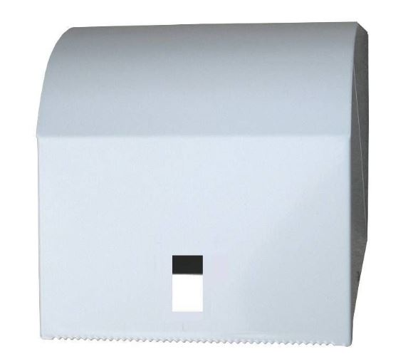 White Metal Paper Towel Roll Dispenser