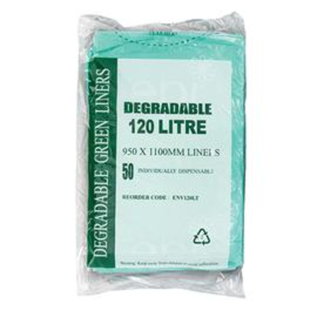 120L EPI Degradable Garbage Bags Green