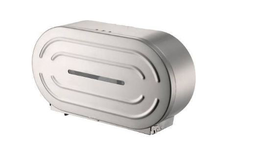 Skip to the beginning of the images gallery JD995-304 S'Steel Twin Jumbo Toilet Roll Dispenser