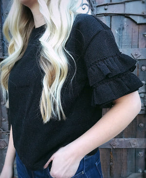 Black Magic Crop Shirt