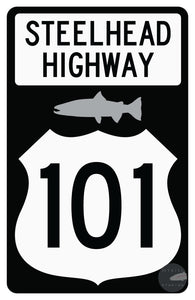 Full On Steelhead Highway Sticker 5.5 X 3.5