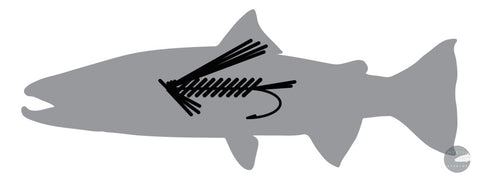 Fly Fish Sticker 8 X 3.25