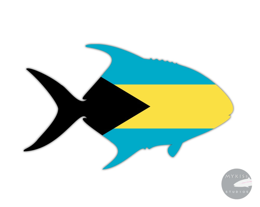 Bahama Permit Die Cut Sticker 5 X 3.25