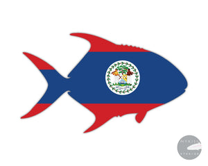 Belize Permit Die Cut Sticker 5 X 3.25