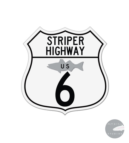 Striper Highway Cape Cod Sticker 5