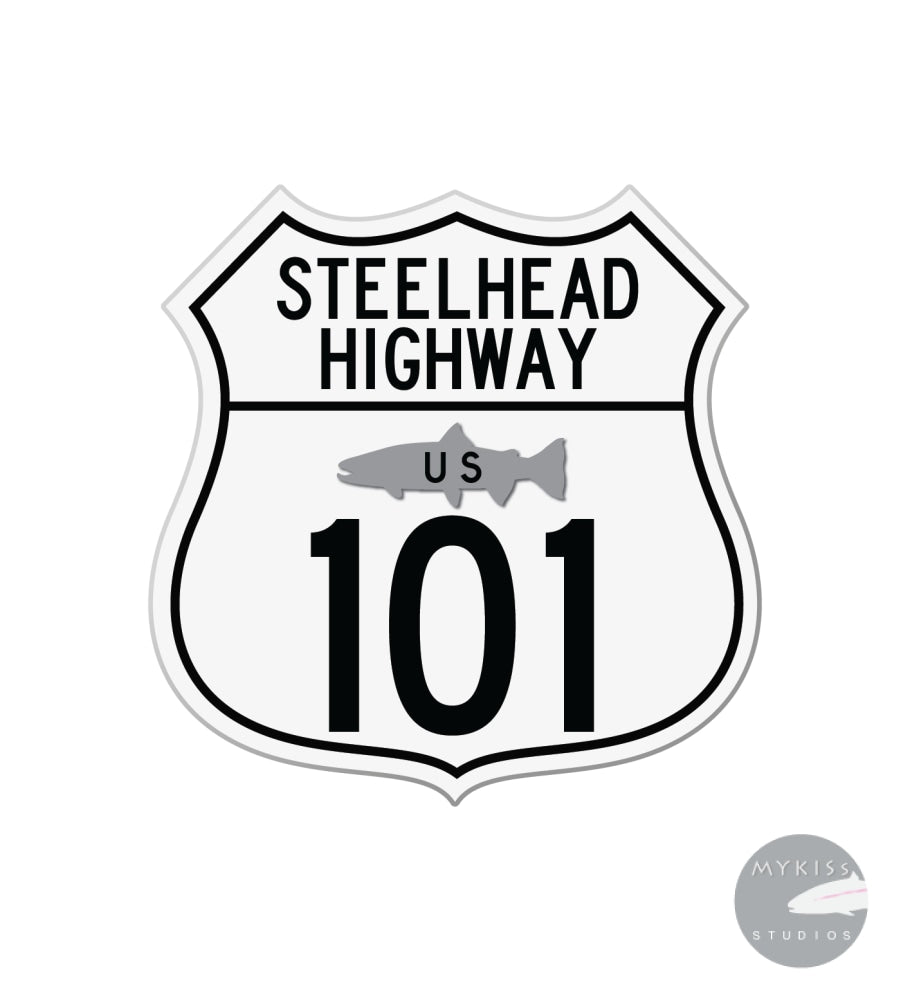 Steelhead Highway Sticker 3X 3